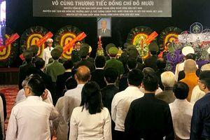 Trang nghiêm lễ viếng nguyên Tổng Bí thư Đỗ Mười tại TPHCM