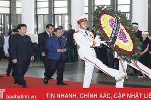 Đoàn đại biểu tỉnh Hà Tĩnh viếng nguyên Tổng Bí thư Đỗ Mười