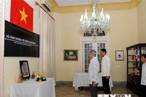 Lễ viếng và mở sổ tang nguyên Tổng Bí thư Đỗ Mười tại Cuba và Ấn Độ