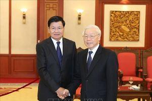 Tổng Bí thư tiếp đoàn đại biểu cấp cao Đảng, Nhà nước Lào