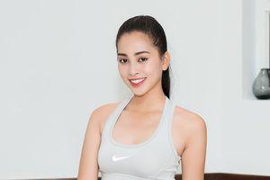 Hoa hậu Trần Tiểu Vy luyện tập cho cuộc thi Miss World 2018
