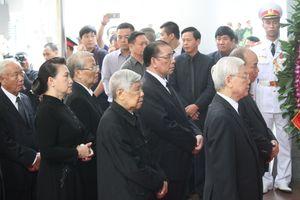 Lễ viếng nguyên Tổng Bí thư Đỗ Mười diễn ra trong không khí trang nghiêm, trọng thể
