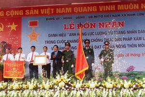 Xã Nam Sơn (Sóc Sơn, TP Hà Nội) đón nhận danh hiệu Anh hùng LLVT nhân dân thời kỳ kháng chiến chống thực dân Pháp