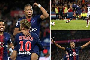 Mbappe ghi 4 bàn trong 13 phút, ghi dấu ấn lịch sử chưa từng có ở Pháp