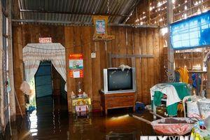 Cần Thơ: Triều cường tràn qua đê bao, nhà dân bị ngập nặng