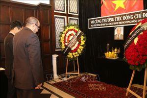 Lễ viếng và mở sổ tang nguyên Tổng Bí thư Đỗ Mười tại Ai Cập và Argentina