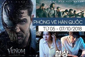 'Venom' dẫn đầu phòng vé Hàn Quốc, 'Đại chiến thành Ansi' vượt mốc 5 triệu khán giả sau 18 ngày ra mắt