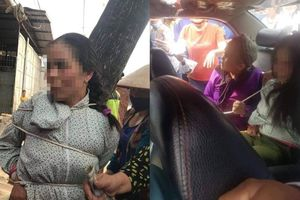 Mâu thuẫn lúc mua bán thuốc, người phụ nữ bị trói vào gốc cây rồi chụp ảnh tung lên facebook vu là kẻ thôi miên cướp tiền