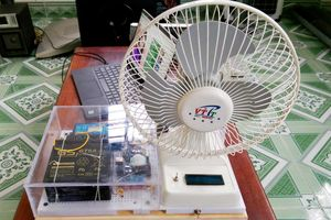 Quạt điện tự động luân phiên sử dụng năng lượng mặt trời