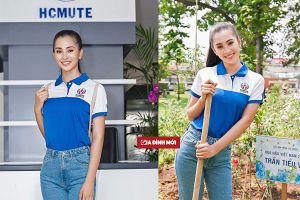 Hoa hậu Trần Tiểu Vy xinh tươi ngày nhập học, nhận học bổng 600 triệu đồng