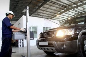 Thủ tục đăng kiểm xe ô tô sắp được rút ngắn thời gian