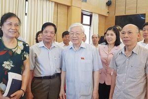 Cử tri thành phố Hà Nội ủng hộ và mong Tổng Bí thư làm Chủ tịch nước