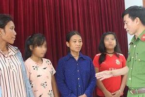 Công an Nghệ An giải thoát 2 nữ sinh lớp 9 khỏi bọn buôn người