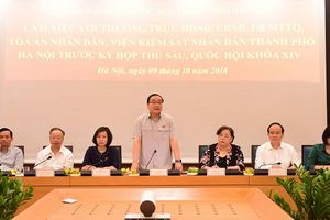 Đoàn Đại biểu Quốc hội TP Hà Nội làm việc với các cơ quan TP trước Kỳ họp thứ 6