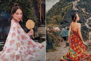 Người mẫu Hà Trúc đẹp như tiên giáng trần tại Ninh Bình
