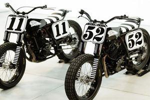 Bộ đôi môtô Suzuki và Honda độ phong cách Flat Tracker