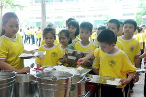 Đảm bảo ATVSTP cho bữa ăn học đường