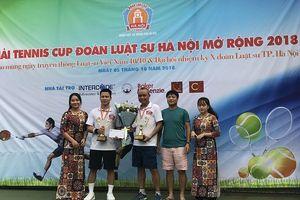 Giải tennis cúp Đoàn Luật sư TP. Hà Nội mở rộng năm 2018 chào mừng ngày truyền thống Luật sư Việt Nam