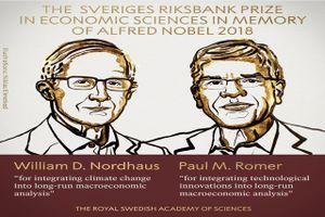 Nobel Kinh tế cho giải pháp phát triển bền vững và phúc lợi người dân