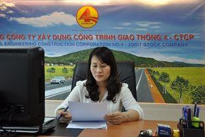 Vợ Phó Chủ tịch Nghệ An Lê Ngọc Hoa rút khỏi HĐQT Cienco4