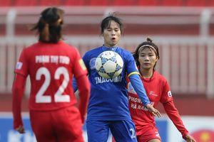 Xác định được 2 cặp bán kết Giải bóng đá nữ Quốc gia 2018