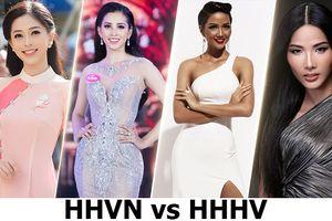 'Cuộc chiến ngầm' của dàn nhan sắc Hoa hậu Việt Nam và Hoa hậu Hoàn Vũ Việt Nam