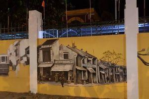 Chào mừng ngày 20/10, trường Phan Đình Phùng hóa thành phố bích họa toàn tranh 3D đẹp 'lác mắt'