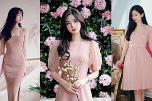 Muôn kiểu váy hồng nude ngọt ngào cho các nàng xinh như tiên mùa thu