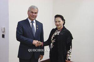 Chủ tịch Quốc hội Nguyễn Thị Kim Ngân hội kiến Chủ tịch Hạ viện Belarus