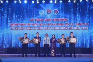 Trao giải cho 17 doanh nhân trẻ xuất sắc TP.HCM năm 2018