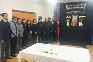Lễ viếng nguyên Tổng Bí thư Đỗ Mười tại Thụy Sỹ
