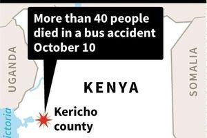 Tai nạn xe bus thảm khốc ở Kenya, hơn 40 người thiệt mạng