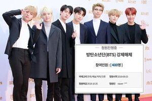 400 người kí tên yêu cầu giải tán BTS với lý do không tưởng