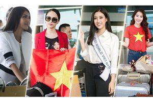 Người đẹp Việt 'gồng gánh' cả tạ hành lí khi đi thi quốc tế
