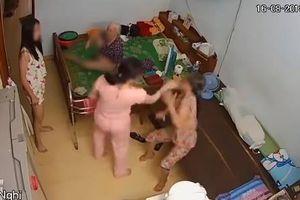 CLIP: Phẫn nộ nữ chủ nhà tát, đạp tới tấp người giúp việc 60 tuổi