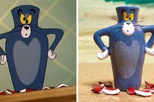Hài hước những khoảnh khắc 'thê thảm' của mèo Tom được mô phỏng ngoài đời thực