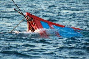 Cứu 44 thuyền viên trên tàu câu mực bị chìm