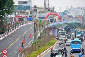 Thông xe nút giao giải tỏa ùn tắc đường nối trung tâm Hà Nội và sân bay Nội Bài