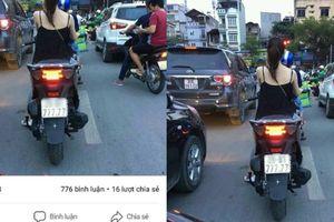 Ảnh kiều nữ Hà Nội đầu trần đi SH biển số 777.77 được 8.888 like