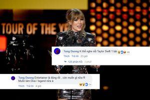 Cư dân mạng dậy sóng vì phát ngôn 'nhức nhối' từ Tùng Dương: 'Không thể nghe nổi Taylor Swift 1 bài'