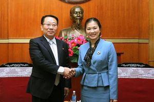 Phó Chủ tịch Trương Thị Ngọc Ánh tiếp Đại sứ Triều Tiên