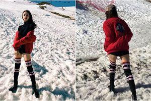Khoe chân thon dài nhưng bị mỉa mai photoshop Hương Giang tức giận đăng clip để dằn mặt