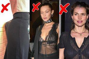 Nếu không muốn trở nên kém thanh lịch trong mắt mọi người, phụ nữ đừng bao giờ mặc đồ lót theo 6 cách này