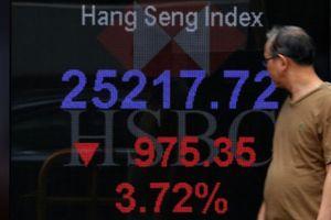 Chứng khoán châu Á lao dốc, thị trường Trung Quốc 'bay' 6%