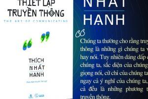 Sách cho 'Ngày tiếp nối' của 'Sư ông Làng Mai' Thích Nhất Hạnh
