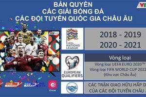 VTVcab công bố bản quyền hệ thống giải UEFA Nations League