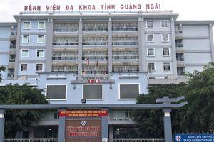 Một bệnh nhân tử vong tại Bệnh viện đa khoa Quảng Ngãi do sốc thuốc