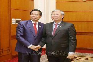 Thường trực Ban Bí thư tiếp Đô trưởng Vientiane