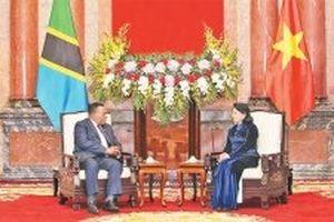 Quyền Chủ tịch nước Đặng Thị Ngọc Thịnh tiếp Bộ trưởng Ngoại giao và Hợp tác Đông Phi của Tan-da-ni-a