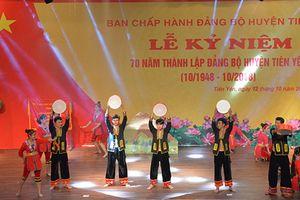Lễ kỷ niệm 70 năm thành lập Đảng bộ huyện Tiên Yên
